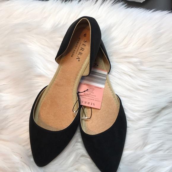 Serra Memory Foam Flats Black Size 9